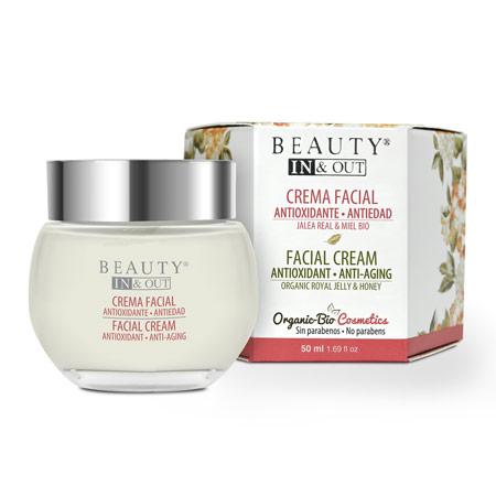 INOUT003 - Crème pour le visage Antioxydante Anti-âge Beauty In&Out