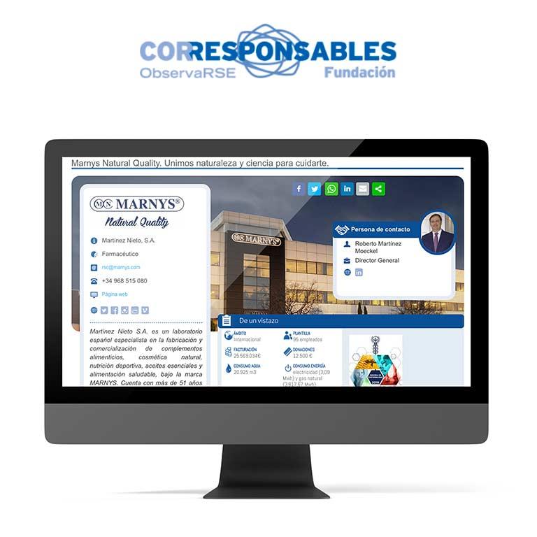 CORRESPONSABLES | Laboratorios MARNYS – Martínez Nieto, S.A. Organizaciones Corresponsables