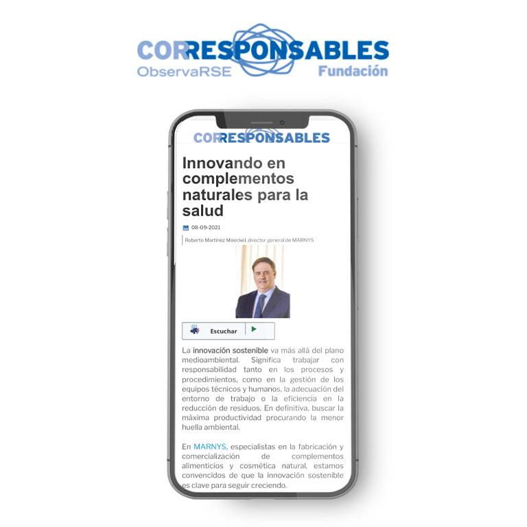 CORRESPONSABLES | Innovando en complementos naturales para la salud