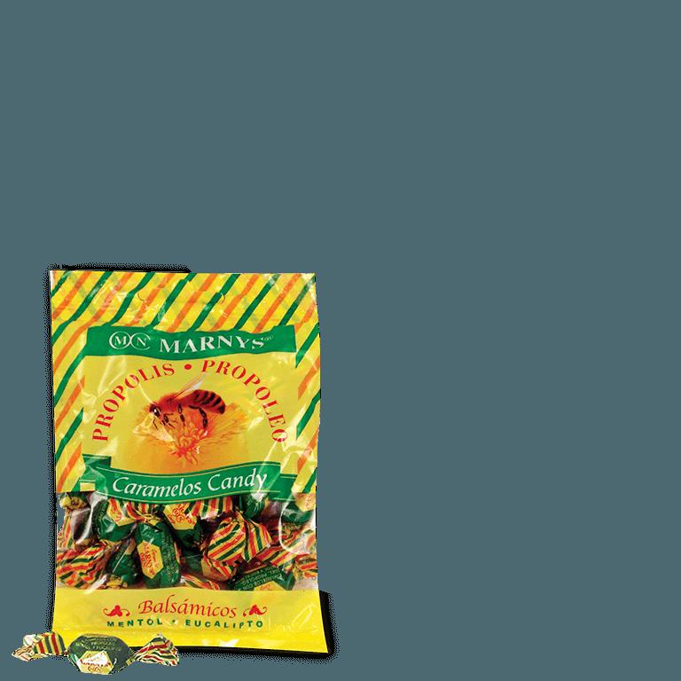 MN612 Propolis-Bonbons mit Honig, Menthol und Eukalyptus 60 g