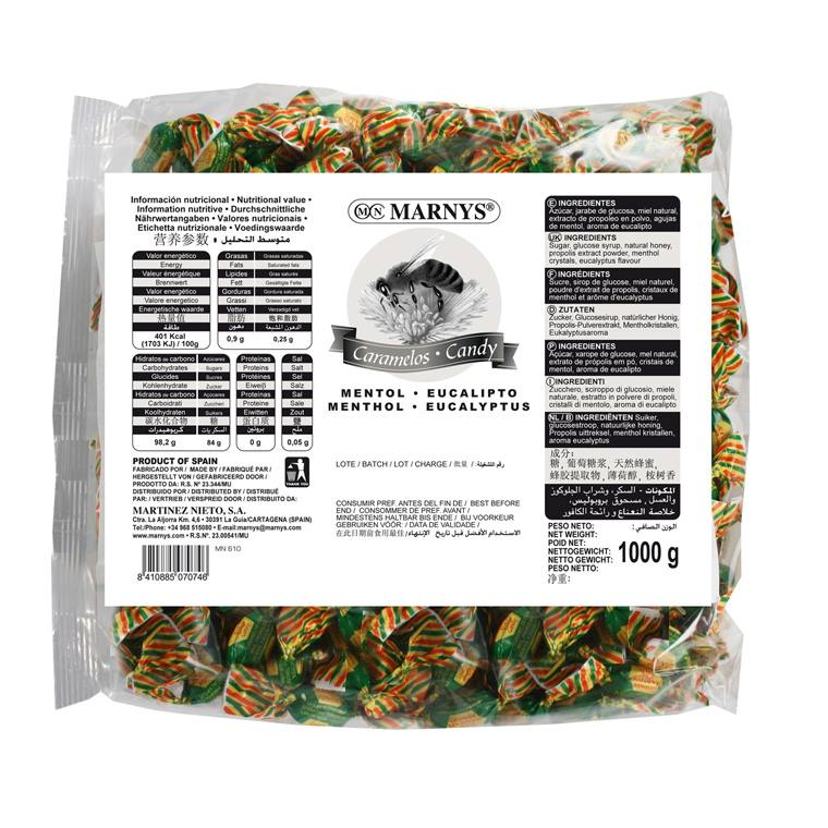 MN610 - Propolis Lozenges with Honey, Menthol and Eucalyptus 1 kg