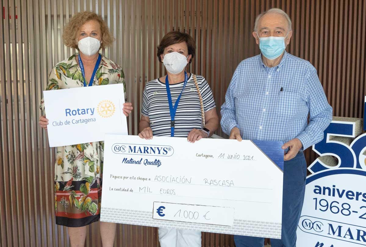 Donativo MARNYS asociación Rascasa Cartagena