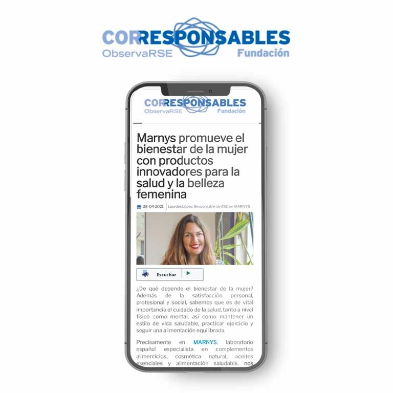 CORRESPONSABLES | Marnys promueve el bienestar de la mujer con productos innovadores para la salud y la belleza femenina