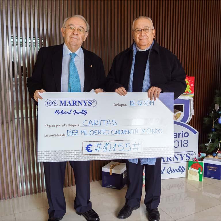 Entrega de la recaudación para los afectados por la DANA a Cruz Roja y Cáritas