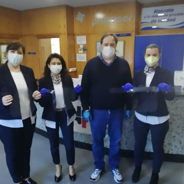 MARNYS® - MARTÍNEZ NIETO, S.A. delivers 300 facial protection screens to the health personnel of Cartagena