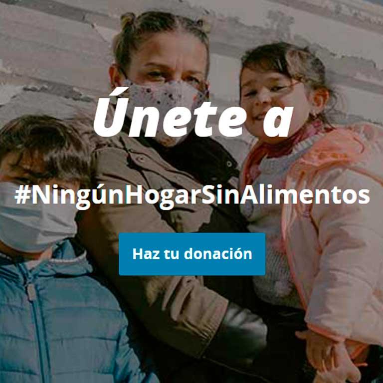 Participamos en la campaña #NingúnHogarSinAlimentos