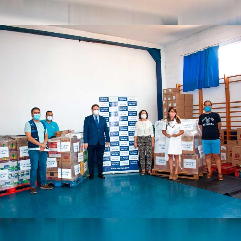 MARNYS spendet 1.500 kg an Lebensmittel für Familien in Cartagena