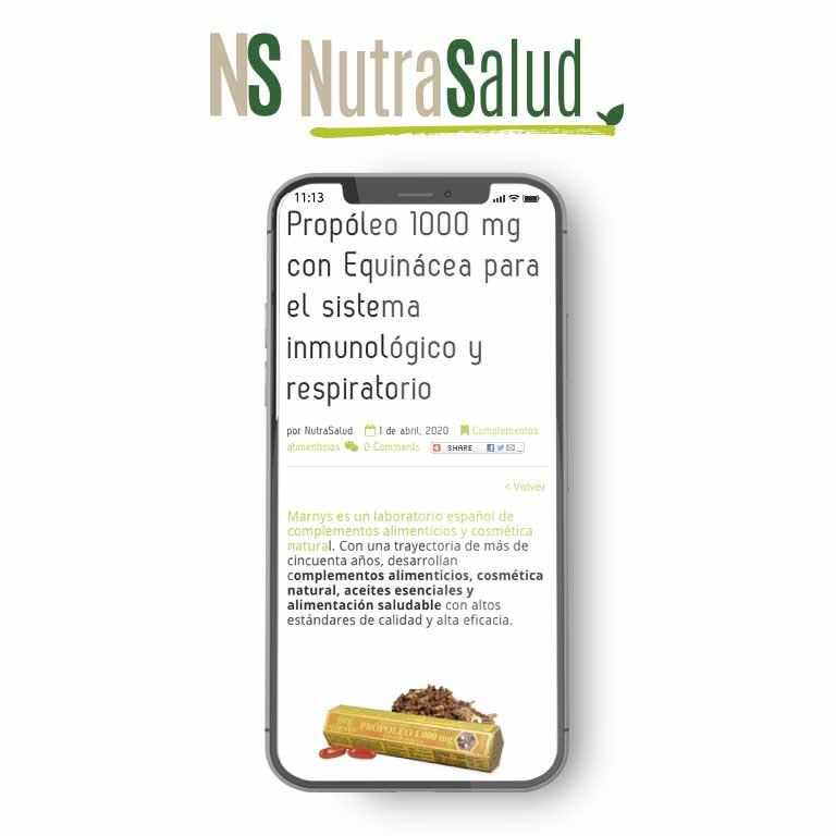 NUTRASALUD   Propóleo 1000 mg con Equinácea para el sistema inmunológico y respiratorio
