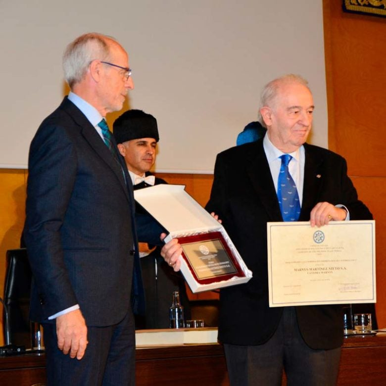 Martínez Nieto, S.A. Anerkennung für die Kooperation Unternehmen - Netz für Lehrstühle