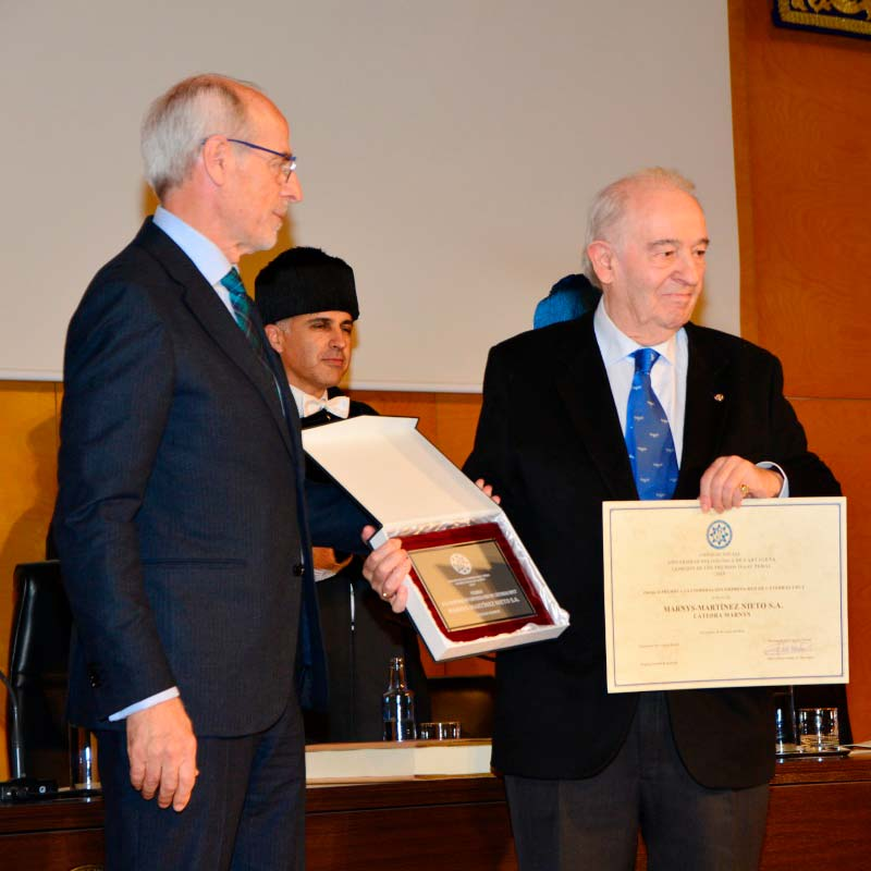 Martinez Nieto, S.A. – MARNYS, premio a la cooperación empresa-Red de Cátedras UPCT