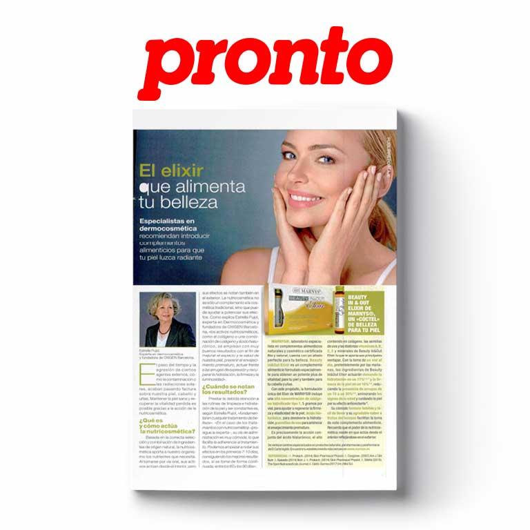 PRONTO | El elixir que alimenta tu belleza