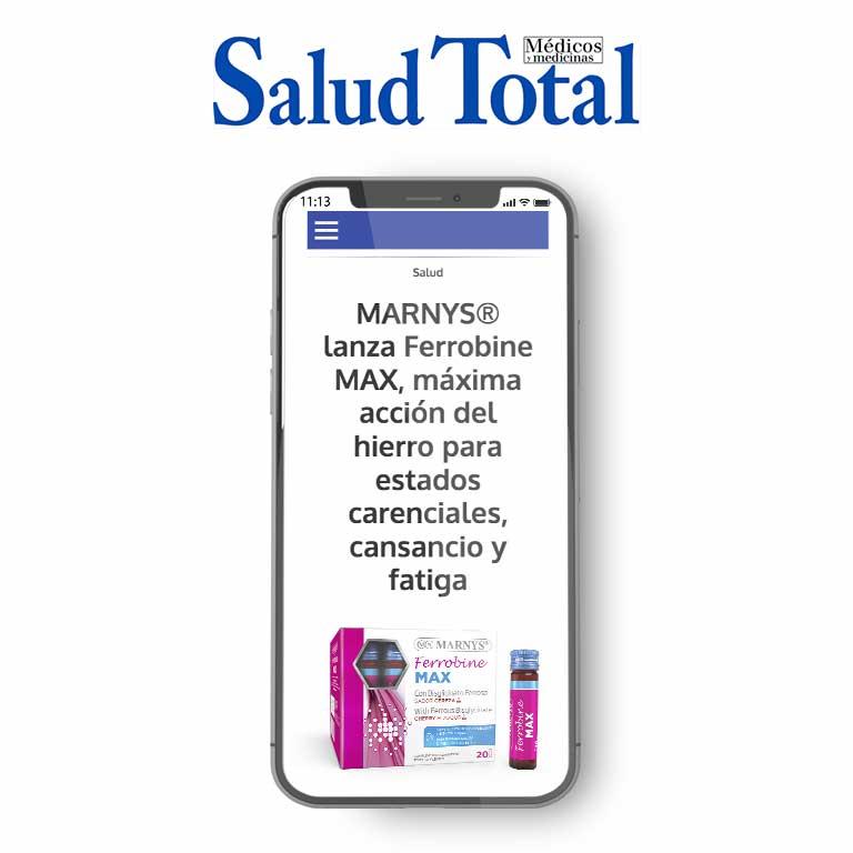 SALUD TOTAL | MARNYS® lanza Ferrobine MAX, máxima acción del hierro para cansancio y fatiga